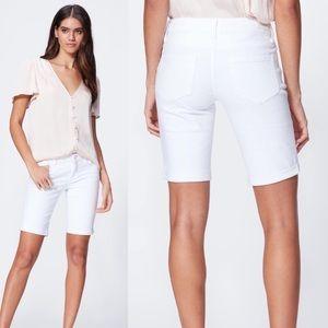 PAIGE Jax Knee Bermuda Short Crisp White Size 27